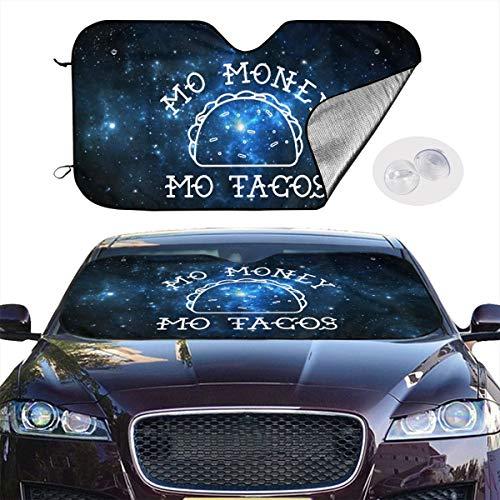 YVONNE WIDLAN Windshield Sun Shade Mo Money Mo Tacos Car Windshield, Sun Shade to Keep Vehicle Cool Protect Your Car from Sun Heat & Glare Best UV Ray Visor Protector (Size: 51 InchX 28 Inch)