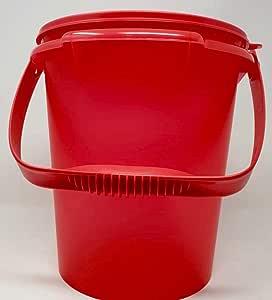 TUPPERWARE Party-reuze-emmer zalm 8,5 liter XXL met handvat voorraadcontainer waterjerrycan melkkan