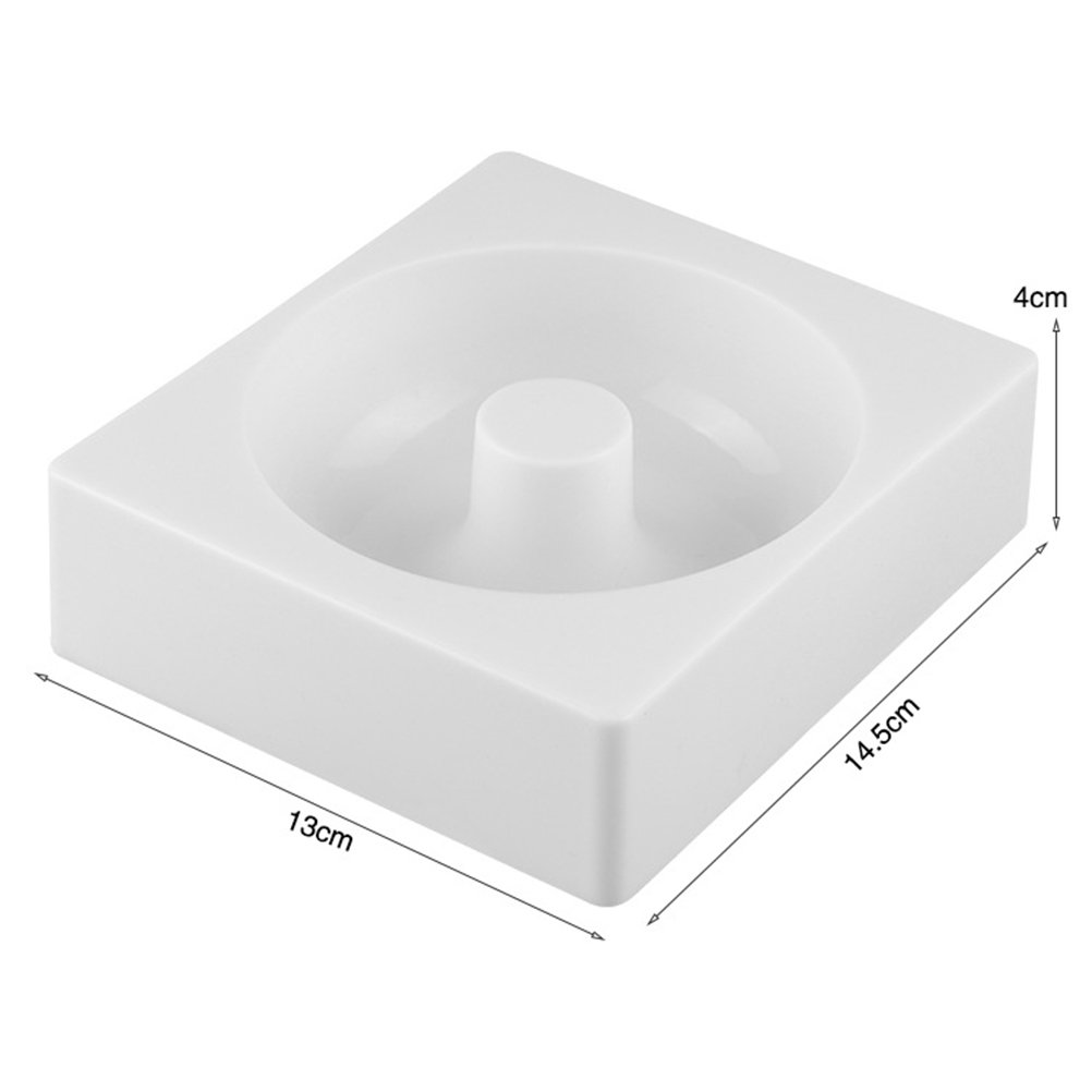 OUNONA Silicone Donuts Mold,Nonstick Donut Pans Donut Baking Pan For Oven/Microwave/Dishwasher(White) by OUNONA (Image #1)