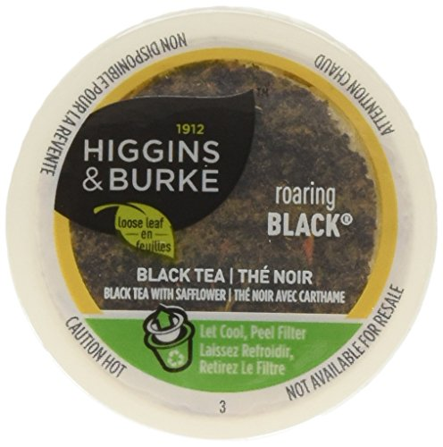Higgins & Burke Single Serve Tea Capsules, Roaring Black Loose Leaf Tea, 24 Count, Premium Authentic Herbal Tea with Natural Blend