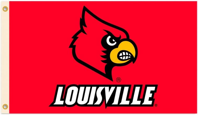 BSI Indoor Outdoor Sports Banner Louisville Cardinals Team Logo 3 Ft. X 5 Ft. Flag With Grommets 95132