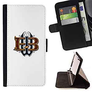 Jordan Colourful Shop - Brand Letters Calligraphy Initials White For Apple Iphone 5C - Leather Case Absorci???¡¯???€????€???????&bdqu