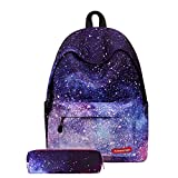 BenchMart School Bag for Boys Girls - Unisex Canvas Book Bag, Galaxy Cloud