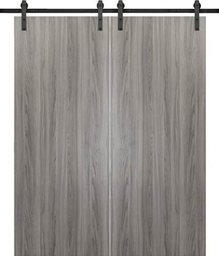 Bell Knob Set Privacy Lock (Planum 0010 Interior Double Barn Doors Ginger Ash No Pre Drilled with sliding system)