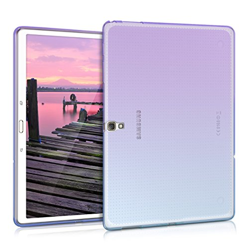 kwmobile TPU Silicone Case for Samsung Galaxy Tab S 10.5 T800 / T805 - Soft Flexible Shock Absorbent Protective Cover - Violet/Blue/Transparent (Bumper For Galaxy Tab S)