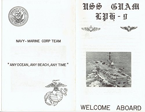 USS GUAM (DD-984) U.S. NAVY AMPHIBIOUS ASSAULT SHIP MID-1980s WELCOME ABOARD BOOKLET; OFFICIAL PHOTO ()