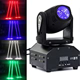 U`King Moving Head Stage Lighting RGBW (4 in 1) with 10W for DJ Disco Club Party Dance Wedding by DMX Controller