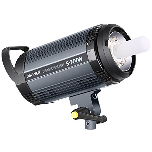 Neewer S300N Professional Studio Monolight Strobe Flash Light-300W 5600K with Modeling Lamp,Aluminium Alloy Professional Speedlite for Indoor Studio Location Model Photography and Portrait Photography -