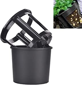 scgtpapadc Planter Pot, 2 in 1 Plastic Garden Planter Pot Vegetables Potato Carrot Tomato Growing Container