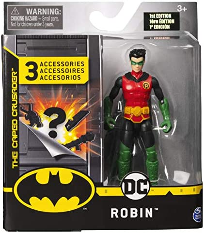 Multicolour Mission 2 4-Inch ROBIN Action Figure with 3 Mystery Accessories BATMAN 6056746
