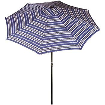 Amazon Com Bliss Hammocks Blue Striped Umbrella With