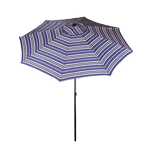 Bliss Hammocks Blue Striped Umbrella Tilt, 9'