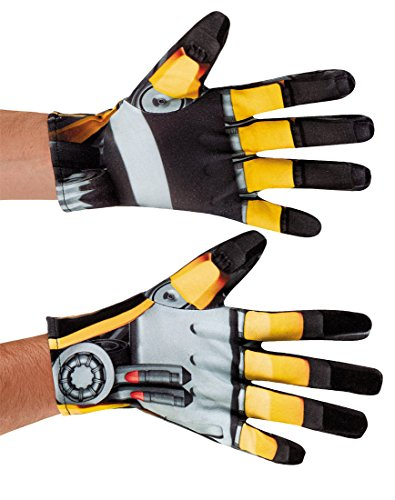 Adult Bumblebee Gloves (Disguise Men's Hasbro Transformers Age Of Extinction Movie Bumblebee Adult Costume Gloves, Yellow/Black, One Size)