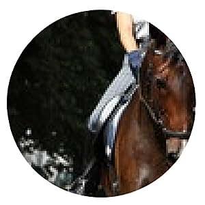 alfombrilla de ratón caballo de deporte hermosa bahía con el retrato de la brida - ronda - 20cm