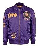 omega psi phi kids - Big Boy Headgear Omega Psi Phi Fraternity Mens Bomber Jacket Large Purple