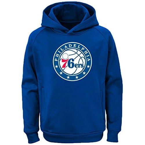 OuterStuff NBA Youth Philadelphia 76ers Fleece Pullover Hoodie Blue