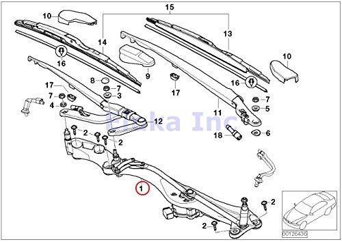 - BMW Genuine Windshield Wiper Linkage And Motor Assembly Front 745i 750i 760i ALPINA B7 745Li 750Li 760Li Phantom Phantom EWB Phantom Phantom EWB Drophead Drophead Coupé Coupé