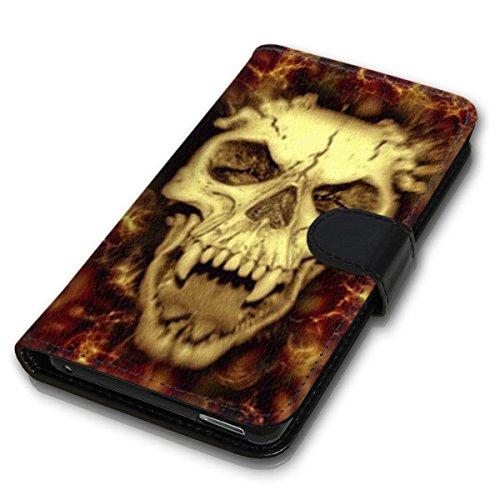 Wallet Book Style Flip Handy Tasche Case Schutz Hülle Schale Motiv Etui für Apple iPhone 4 / 4S - Design Flip MV133