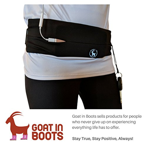 Cheap Adjustable Running, Waist Belt with Key Clip. Fits All Sizes of Android and iPhones. Unisex. Perfect for Gym, Workouts, Exercise, Cycling, Walking, Jogging, Sport, Travel, Outdoor activity (Black)