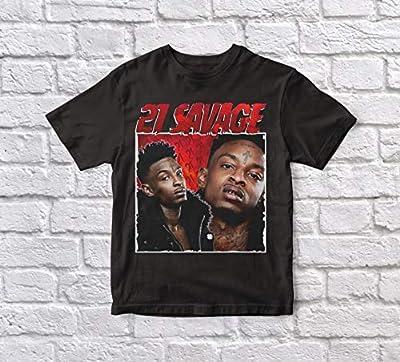 21 Savage, 90's, Vintage, Unisex, Black Tshirt