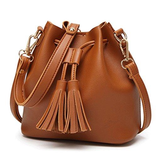 colore Nera Della Marrone Pu Bianco Messenger Donna Bag Pelle In Nappa Telefono Borsa TvBwqB6