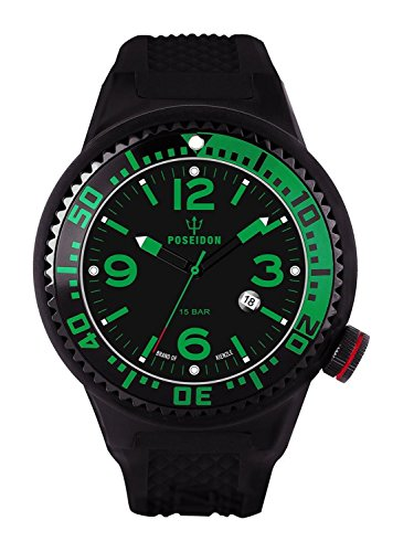 Kienzle Poseidon Men's XL Black Pro Watch - Black & Green