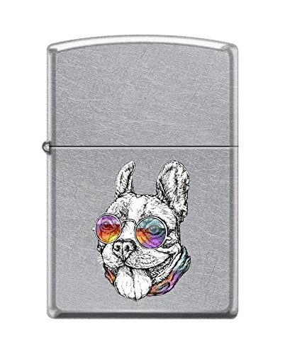 Zippo Custom Lighter Design Cool Bulldog Wearing Colorful Sunglasses Windproof Collectible - Cool Cigarette Lighter Case Made in USA Limited Edition & - Zippo Sunglasses