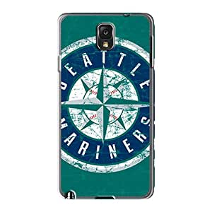 Shock-Absorbing Hard Cell-phone Cases For Samsung Galaxy Note 3 With Custom Trendy Seattle Mariners Image JohnPrimeauMaurice