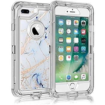 buy online 769ac b83cf Amazon.com: Maxcury Case for iPhone 8 Plus & iPhone 7 Plus & iPhone ...
