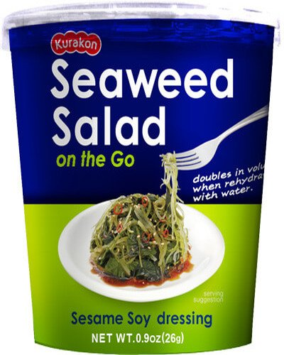 Japanese Seaweed Salad - Japanese Delight Seaweed Salad on the Go, Sesame Soy, 0.9-Ounce (Pack of 6)