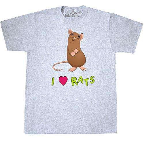 Inktastic - I Love Rats T-Shirt Medium Ash (Love Ash Grey T-shirt)