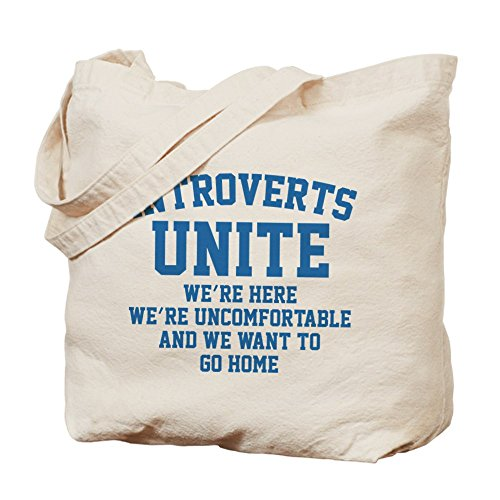 CafePress Introverts Natural Canvas Shopping