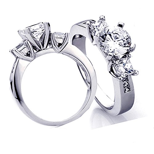 - Dazzlingrock Collection 0.45 Carat (Ctw) 14k Princess Diamond Ladies Bridal Semi Mount Ring Engagement (No Center Stone), White Gold, Size 8