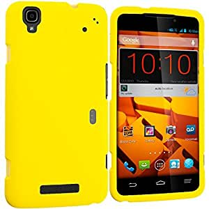 Accessory Planet(TM) Yellow Hard Snap-On Matte Rubberized Case Cover Accessory for ZTE Boost Mobile Max N9520 wangjiang maoyi