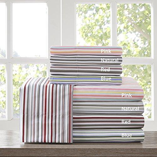 (Intelligent Design ID20-602 Multi Stripe Sheet Set Twin Blue,Twin)