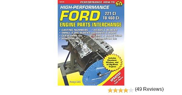 High Performance Ford Engine Parts Interchange Sa Design George
