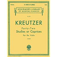 Kreutzer Forty-Two Studies or Caprices for the Violin (Schirmer's Library of Musical Classics)