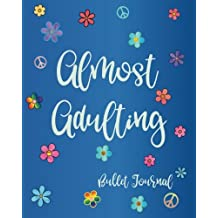 Almost Adulting Bullet Journal: Stylish Colorful Rainbow Blue Watercolor Flower Design, Dot Grid Bullet Journal, 8 x 10 Blank Notebook, 1/4 inch Dot ... Paper, Perfect Bound BuJo Diary (Boho Books)