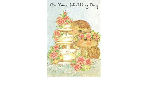 Amazon on your wedding day country companions greeting card amazon on your wedding day country companions greeting card gordon fraser gallery hedgehogs health personal care m4hsunfo
