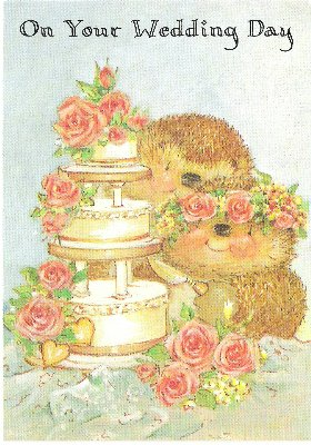 Amazon on your wedding day country companions greeting card on your wedding day country companions greeting card gordon fraser gallery hedgehogs m4hsunfo