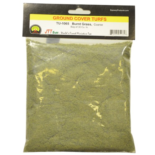 JTT Scenery Products Ground Cover Turf, Burnt Grass, Coarse/30 Cubic Inch