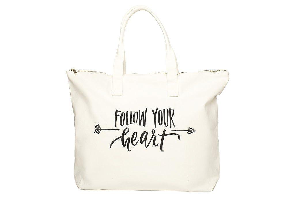 Bolsa de lona con especial diciendo - cremallera parte superior, bolsillo interior, 100% algodón: Amazon.es: Ropa y accesorios