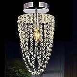 Indoor Lighting Modern K9 Crystal Chandelier, Bedroom LED Ceiling Light Transparent Crystal Living Room Lighting Modern Crystal Light Restaurant Chandelier Aisle Lighting (Size : 1635cm)