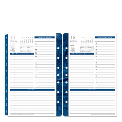 Classic Monticello One-Page-Per-Day Ring-bound Planner - Jan 2018 - Dec 2018