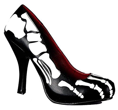 SharpSpirit Halloween Print Cosplay Nightmare Before Christmas Sally Costume Women Heel Shoes 8