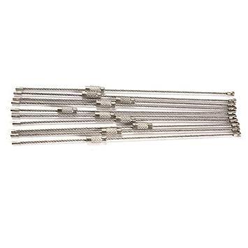 Amazon.com: 10pcs Alambre de acero inoxidable llavero Cable ...