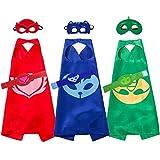 Yostra Kids Cartoon Cape Mask With Bracelet Costume For Catboy Owlette Gekko Dress Up