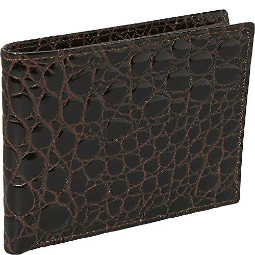 Slim Brown Wallet Crocodile Budd Budd European Leather Leather Bidente European Crocodile nffqvw8a