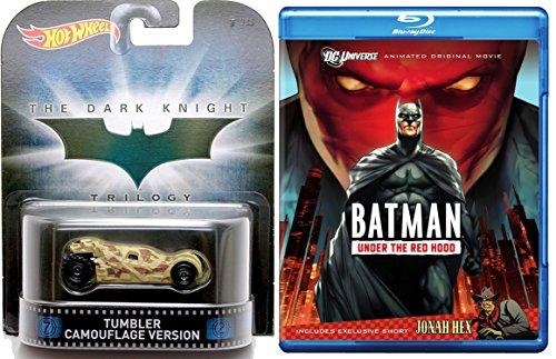 Batman: Under the Red Hood Animated Blu Ray + Hot Wheels Tumbler Camouflage Version Dark Knight car movie bundle