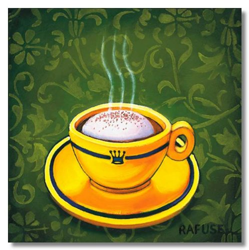 Café Latte by Will Rafuse Museum Wrapped Canvas Art Print 8.5 x 8.5 Inches on Frame